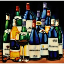 "8"" x 8"" 12 Wine Bottles Tile"