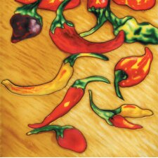 "8"" x 8"" Chilies Art Tile in Multi"