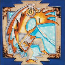 "8"" x 8"" Kokopelli Art Tile in Multi"