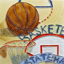 "<strong>En Vogue</strong> 8"" x 8"" Sport Basketball Art Tile in Multi"