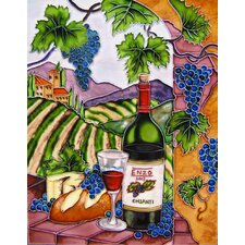 "14"" x 11"" Enzo Blue Grapes with Arch Vertical Art Tile"