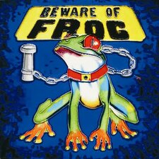 "<strong>En Vogue</strong> 8"" x 8"" Beware of the Frog Art Tile in Multi"