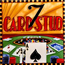 "8"" x 8"" Casino Card Stud Art Tile in Multi"