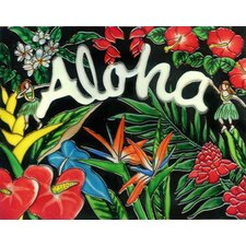 "14"" x 11"" Aloha Art Tile in Multi"