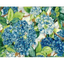 "14"" x 11"" Hydrangeas Art Tile in Blue"