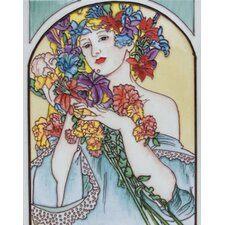 "14"" x 11"" Lady Art Tile in Multi"