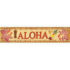 "16"" x 3"" Aloha Art Tile in Multi"