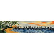 "16"" x 3"" On Hawaiian Time Art Tile in Multi"