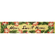 "16"" x 3"" Home Sweet Home Art Tile in Multi"
