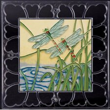 "<strong>En Vogue</strong> 12"" x 12"" Frame - Dragonflies Art Tile in Multi"