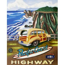 "14"" x 11"" Pacific Coast Art Tile in Multi"