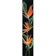 "16"" x 3"" Bird of Paradise Art Tile in Multi"