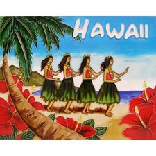 "14"" x 11"" Hawaii Art Tile in Multi"