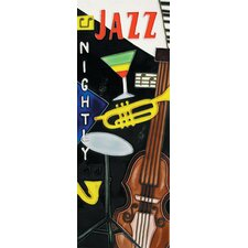 "16"" x 6"" Jazz Night Art Tile in Multi"