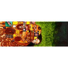 "16"" x 6"" Embrace by Gustav Klimt Art Tile in Multi"
