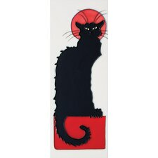 "16"" x 6"" Cat Art Tile in Black"