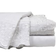 Lace Embroidery Microfiber Sheet Set