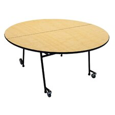 Mobile Folding Cafeteria Round Table