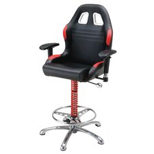 <strong>Pit Stop Furniture</strong> Racing Style Adjustable Bar Stool