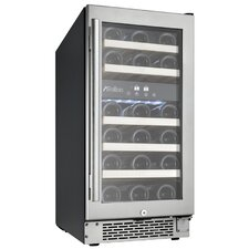 28 Bottle Dual Zone Wine Cooler