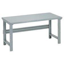 Open Work Bench - Steel Top, Adjustable Height