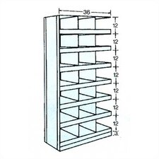 "36"" Wide Clipper Bin Unit - 21 Openings (w/ Bin Fronts)"