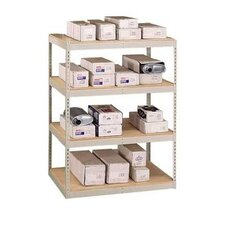 "72"" & 96"" Wide Double Rivet Units (with Center Support) - 4 Shelf Starter Unit, w/ Channel Beams"
