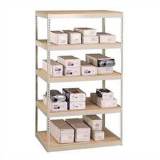 "72"" & 96"" Wide Double Rivet Units (with Center Support) - 5 Shelf Starter Unit, No Channel Beams"