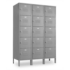 Vanguard Locker 5 Tier 3 Wide Contemporary Locker