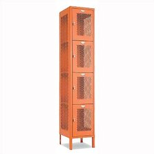 Invincible II Four Tier 1 Wide Locker (Assembled)