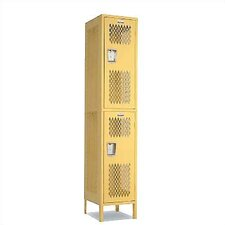 Invincible II Double Tier 1 Wide Locker (Assembled)