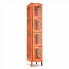 Invincible II Four Tier 1 Wide Locker (Unassembled)