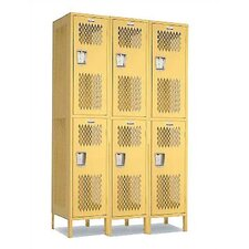 Invincible II Triple Tier 3 Wide Locker (Unassembled)