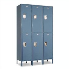 Vanguard Double Tier 3 Wide Locker (Assembled)