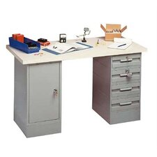 Modular Work Benches - Laminated Maple Hardwood Top, 4 Drawers, 1 Cabinet