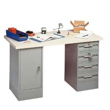 <strong>Penco</strong> Modular Work Benches - Laminated Maple Hardwood Top, 8 Drawers