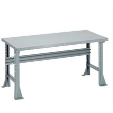 Open Height Adjustable Plastic Laminate Top Workbench