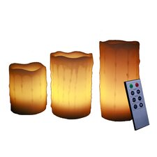 Flameless Pillar Candle (Set of 3)