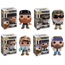 Duck Dynasty Pop! Vinyl Figures 4 Piece Set