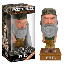 Duck Dynasty Phil Robertson Talking Wacky Wobbler Figure