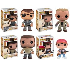Walking Dead Pop! Vinyl Figures 4 Piece Set