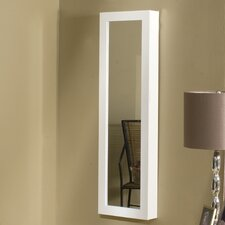 Over the Door/Wall Mounted Jewelry Armoire with Mirror