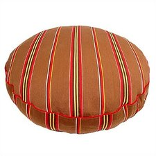 Brown Ticking Stripe Round Pet Bed