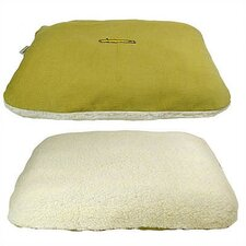 Corduroy Rectangular Pet Bed Cover and Mattress Set in Lime Green