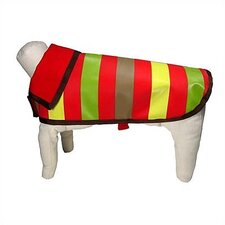 Reversible Nylon Mod Stripe Dog Rain Jacket