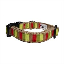 Mod-Stripe Cotton Tiny Dog Collar