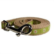 Green Flower Cotton Tiny Dog Leash