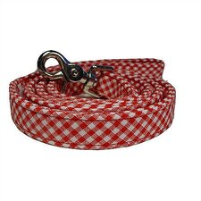<strong>George SF</strong> Gingham Cotton Dog Leash