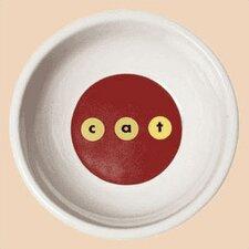Modern c-a-t Porcela Cat Bowl