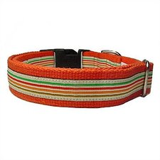 Super Stripe Cotton Dog Collar
